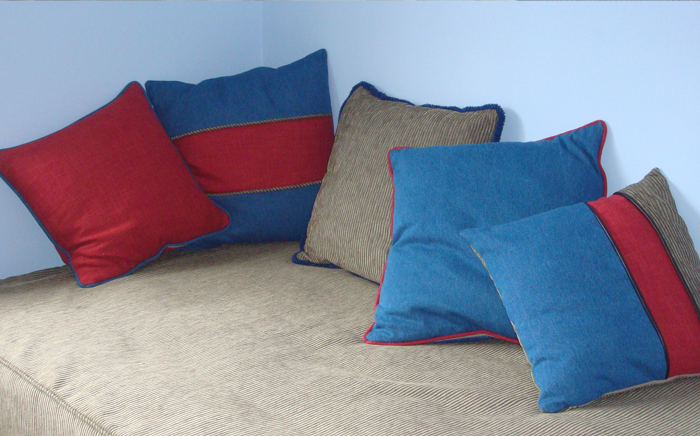 Denim themed scatter cushions