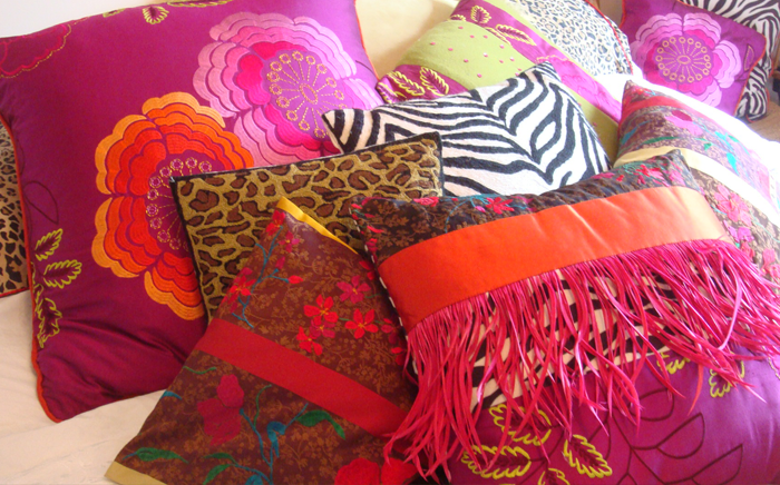 Silk scatter cushions