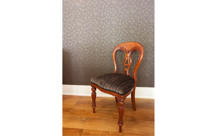 Wallpaper & recovered chair