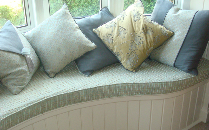 Window seat scatter cushions